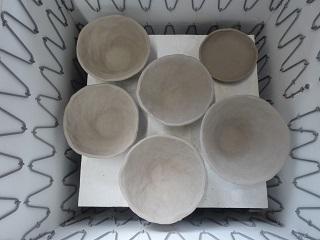 茶碗の素焼き