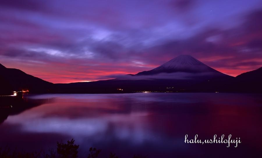 本栖湖 朝焼け (2)sn_filtered
