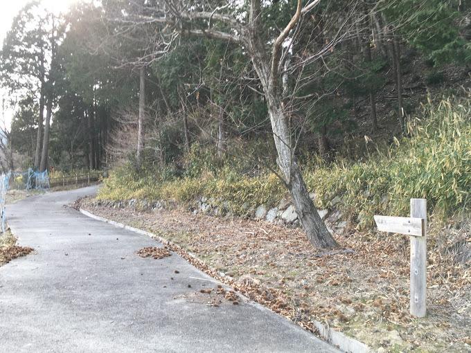 千丈寺山/登山道入り口