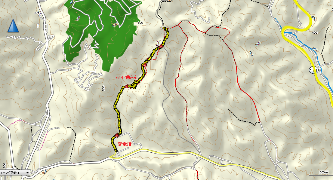 高岳/地図