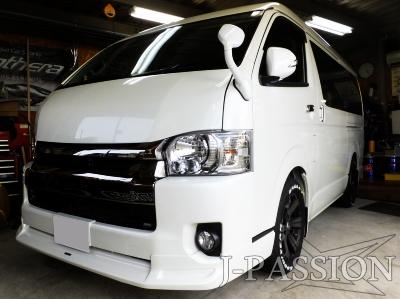 トヨタ・ハイエースロング ミドルルーフ 《東海地方のカーセキュリティ取付店・Panthera・Grog・CLIFFORD正規ディーラーです。》