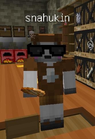 シロクマスキンが茶色くなった