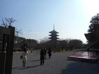 ④東寺 毘沙門天 五重塔