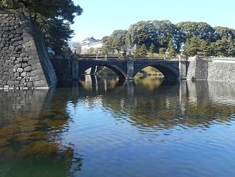 皇居 お濠側からみた正門石橋 ①