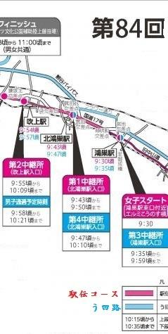 第84回埼玉県駅伝競走大会 平成29年2月5日   こうのす付近