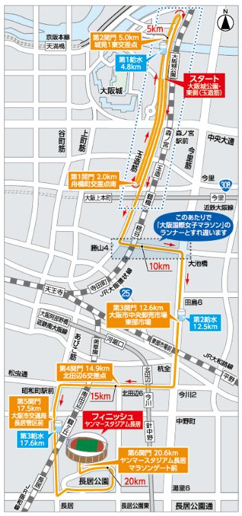 大阪ハーフ コース図