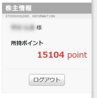 アトム 優待ポイント 201609