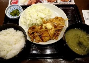 ヴィアHD 紅とん 豚ロース黒辛炒め定食02 0612 201609