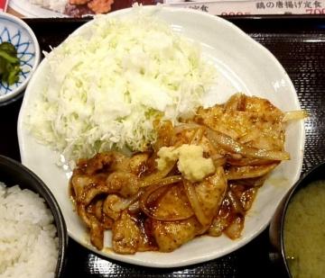 ヴィアHD 紅とん 豚ロース黒辛炒め定食03 0612 201609