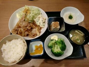 ヴィアHD いちげん 生姜焼き定食01 1612