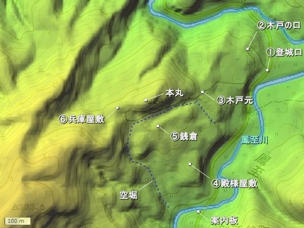 天堂城_地形図