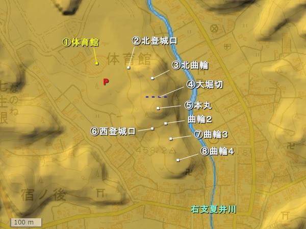 小野城_地形図
