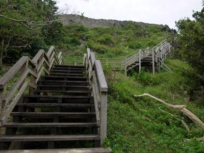 玉城城_一の郭階段