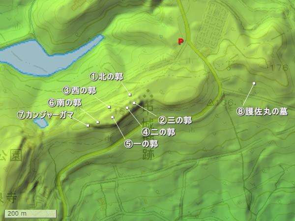 中城城地形図