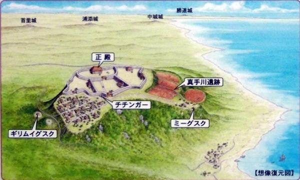 島添大里城復元図