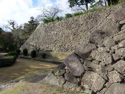 福岡城_本丸下石垣