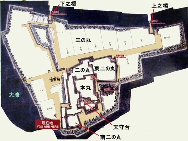 福岡城縄張