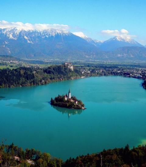 スロヴェニア ブレッド湖 ブレッド島 ブレッド城