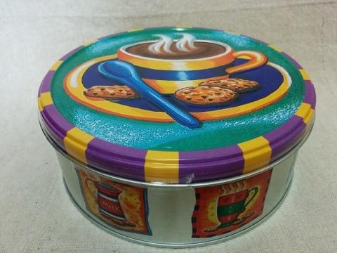 デンマーク製ヤコブセン社チョコチップクッキー ティン1