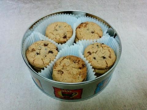 デンマーク製ヤコブセン社チョコチップクッキー ティン2