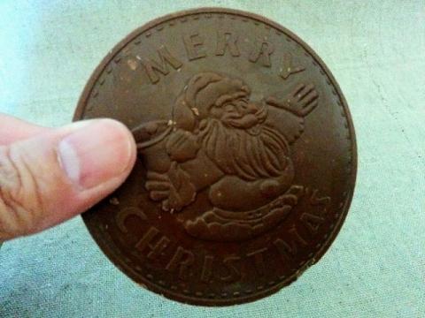イタリア製ワルコール クリスマスコインチョコ2