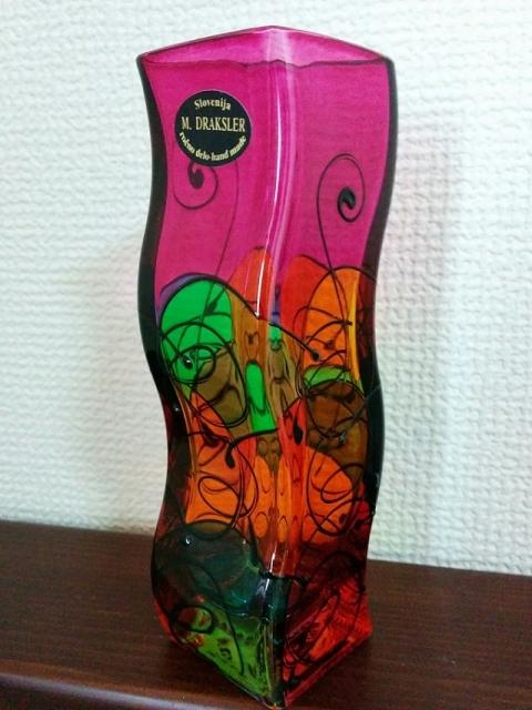 スロヴェニア製ガラス花瓶 ミリヤナ・ドラクスラー1