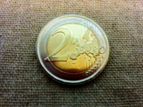 スロヴェニア建国25周年記念2€コイン2