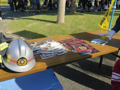 うなぎまつり 消防展示