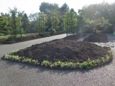 ガーデンパーク 花の美術館 盛り土