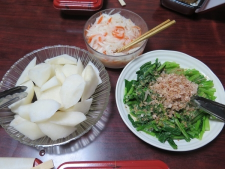 にっこり梨と大松菜と紅白なます