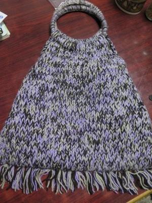 500円の毛糸バッグ