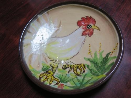南島焼さんのコッコちゃんの干支皿