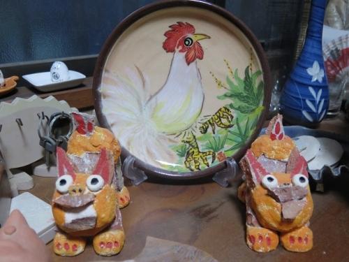 南島焼さんのコッコの干支皿