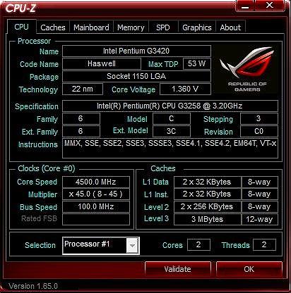 G3258 4500GHJz