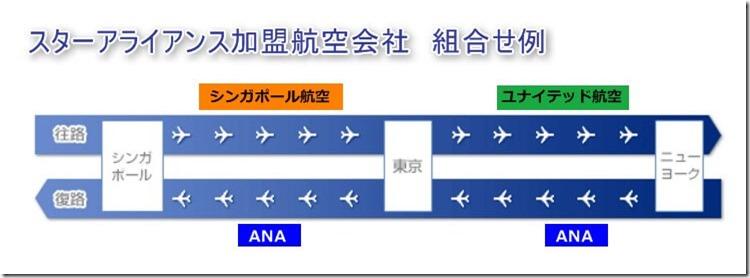 スターアライアンス加盟航空会社 組み合わせは可能