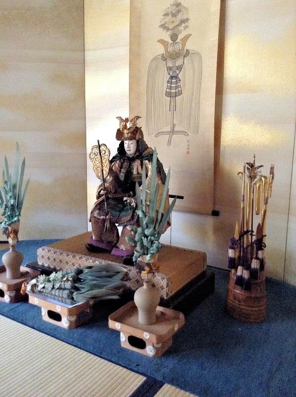 杉本家住宅内にしつらえられた端午の節句の飾り物の一部
