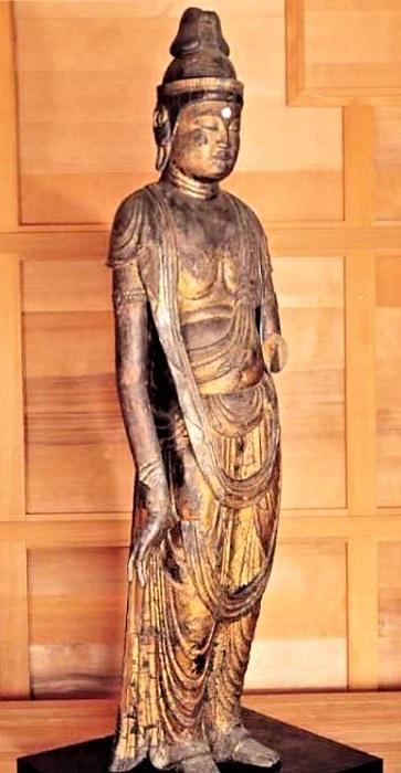 西堤寺・観音菩薩像(11世紀前半)