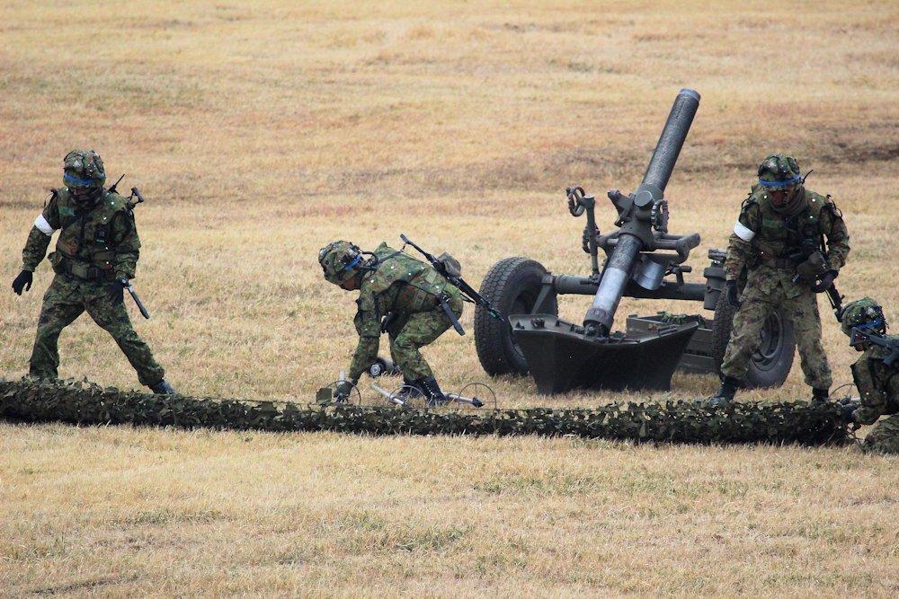 習志野空挺団降下始め 347