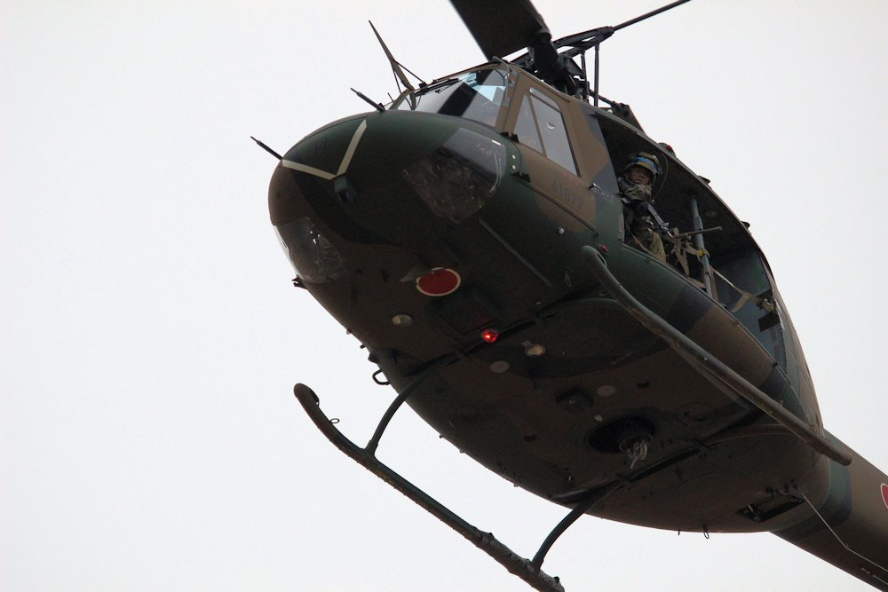 習志野空挺団降下始め 358