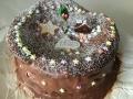 濃厚チョコレートケーキ粉砂糖