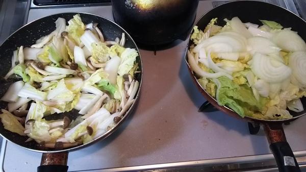 白菜と豚のキムチ炒め (3)