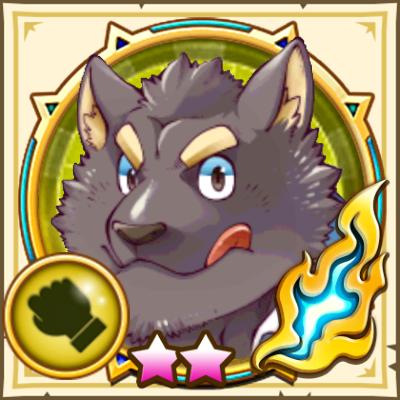 黒ワンコ白猫アイコン