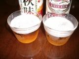 キリンビール 秋味 色比較