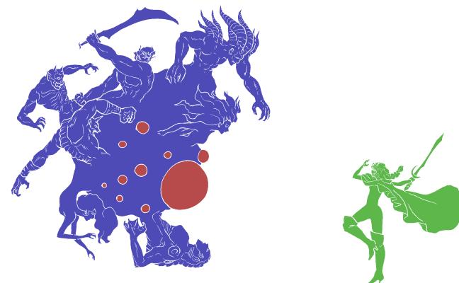 七英雄vs最終皇帝・版画改