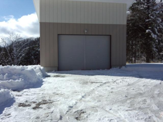 雪かき後車庫前0122