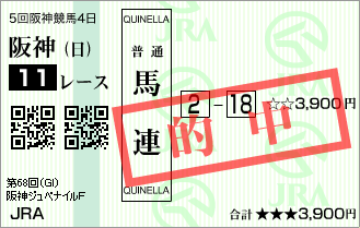 阪神ジュベナイルF_的中2