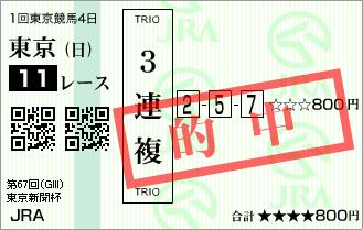 東京新聞杯_的中1