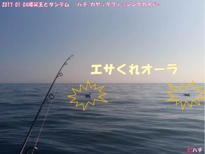 2017-01-04爆笑王とタンデム –ハチ カヤックフィッシングガイド- (5)