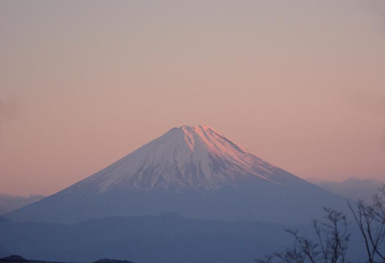 夕日の富士