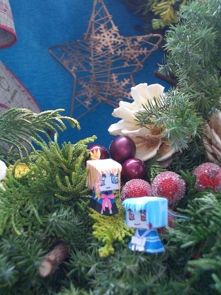手作りクリスマスリース3